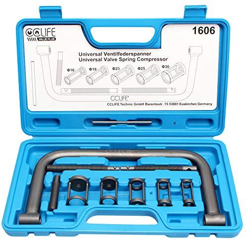 CCLIFE Universal Ventilfederspanner Ventilfeder Spanner Satz Ventil Montage Kompressor Kit Werkzeug