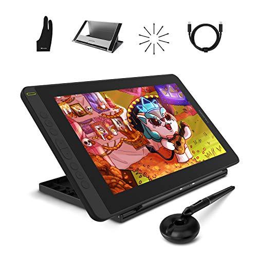 HUION 2021 Kamvas 12 Grafiktablett mit Display (Schwarze) 11.6 Zoll Grafikmonitor 1920 X 1080 HD IPS mit voll laminiertem Bildschirm mit verstellbarem Ständer für Remote Arbeiten oder Lernen