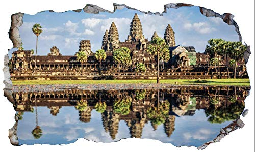 Chicbanners Angkor Wat Temple Cambodia V102 - Adhesivo decorativo para pared (1000 mm de ancho x 600 mm de profundidad)