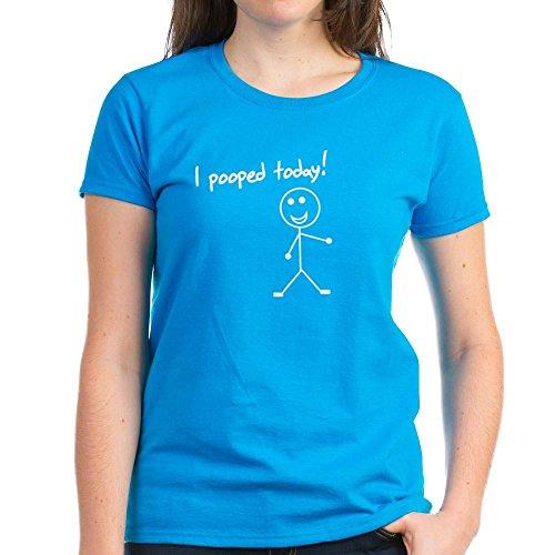 CafePress I Pooped Today Shirt Damen T-Shirt aus dunklem Baumwolle Gr. M, Karibikblau