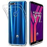 HOOMIL Kompatibel mit Huawei Y7 2018 Hülle, Transparent Silikon Handyhülle für Huawei Y7 2018 Schutzhülle, Durchsichtige