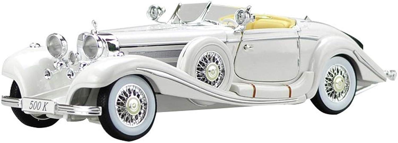 LIUFS-Legierung Auto Legierungs-Auto-Modell-Simulations-Design Mercedes-Benz 500K Classic Car Home Collection Dekoration ( Farbe   Wei )