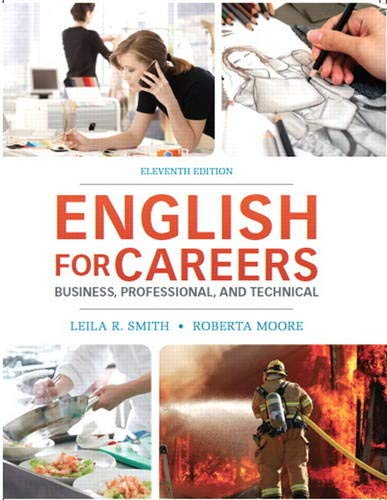 English for Careers: Business, Professional and Technical