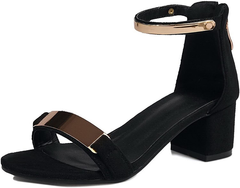 AdeeSu Womens Non-Marking Mid-Heel Huarache Urethane Sandals SLC03858