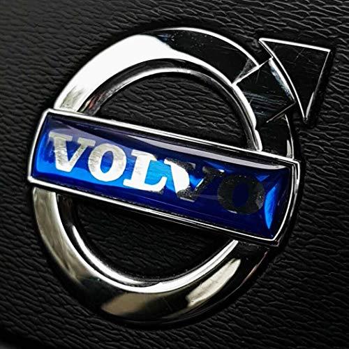 FORTILLO Dave's Barton Lenkrad Volvo Emblem Zeichen Logo Airbag (Blau, 35x8mm)