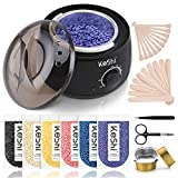 Home Waxing Kit, KESHI Wax Warmer Hair Removal Wax Kit with 6 Bags Hard Wax Beans for Full Body,...
