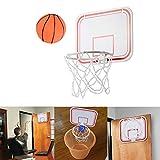 Sports Indoor Basketballkorb Mini Basketball Brett Dekomprimieren Spielzeug Freizeit Sport Basketball Training mit Ball und Pumpe für Büro, Zimmer, Schlafzimmer, Badezimmer oder Toilette