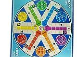 Ludo Cartón Niños Niños Juego Familiar Serpientes y Escaleras Juego Para 2 A 6 Jugadores