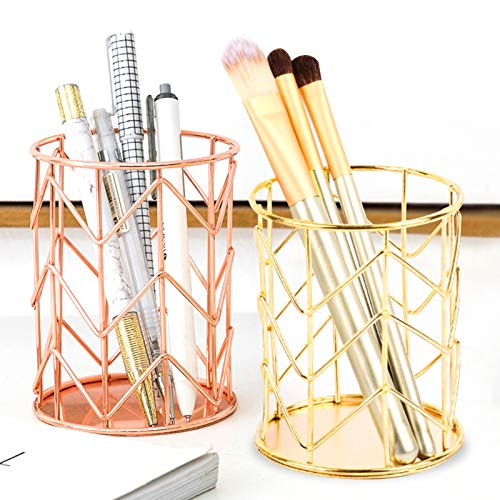 lapiceros para escritorio,Organizador de escritorio,Portalápices Multifuncional,Soporte para bolígrafo de Escritorio,compartimentos Soporte para bolígrafo,Organizador de Pluma (dorado)