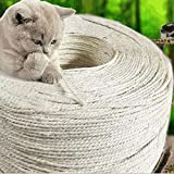 <span class='highlight'><span class='highlight'>Huakaimaoyi</span></span> Cat Scratching Rope Posts Trees Replacement Rope Natural Sisal Fiber Rope (6Mm) 2Pcs-3M