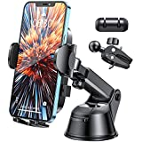 Phone Holder for Car, Cell Phone Car Mount Holder, Universal Phone Stand 360 Adjustable, Dashboard Windshield Car Vent Phone Mount Compatible with All iPhones Samsungs