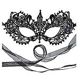 The Authentic 50 Shades Darker Ana Masquerade Mask - Luxury Lace Anastasia Goddess Mask (Black)