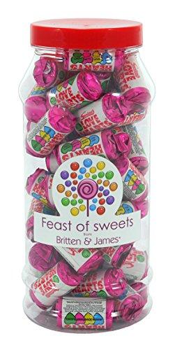 SWIZZELS LOVE HEART MINI ROLLS 500g+. Feast of Sweets Jar by Britten & James®. Traditionelle britische Süßigkeiten in einem 970ml Plastikbecher. Ein perfektes Geschenk.