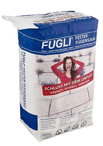 FUGLI Fester Premium Fugensand 15 kg Sack steingrau