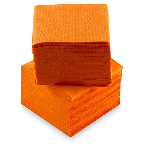 Morigami Coktail, Servilleta 20x20, 2 capas, pliegue 1/4, 100 servilletas, punta-punta Naranja