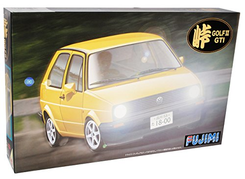 Fujimi Volkwagen Golf ii 2 GTI 3 TÜrer Gelb Yellow Bausatz Kit 1/24 Modellauto Modell Auto