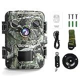 Cámara para animales salvajes, 1080P, Full HD, 16 MP, visión nocturna, cámara de caza de 120°, IP66, resistente al agua, para cazadores, jardines, exteriores