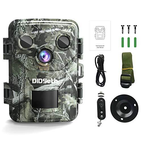 Wildtierkamera Fotofalle 1080P, Full HD 16MP Nachtsicht Jagdkamera 120° IP66 Wasserdicht Beutekameras für Jäger Garten Outdoor