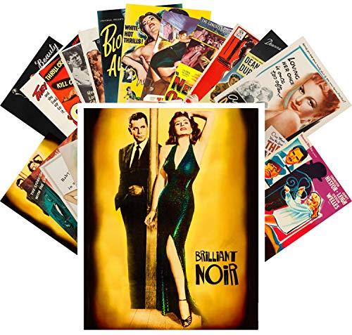 24 Postkarten Film Noir Lady Vintage Hardboiled Movie Posters Ads