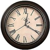 NSYNSY Reloj de Pared Vintage Europeo, Reloj de Cuarzo Retro para el hogar Marco de Metal Puntero de Aluminio Reloj con Estampado clásico HD Glass-B 14 Pulgadas (35 CM)