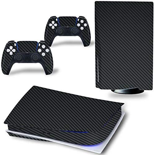 AXDNH Adesivi in Vinile per PS5 Console & Controller Skins Cover Decalcomania per Playstation 5 Digital Edition Pellicola Protettiva per la Pelle,Nero