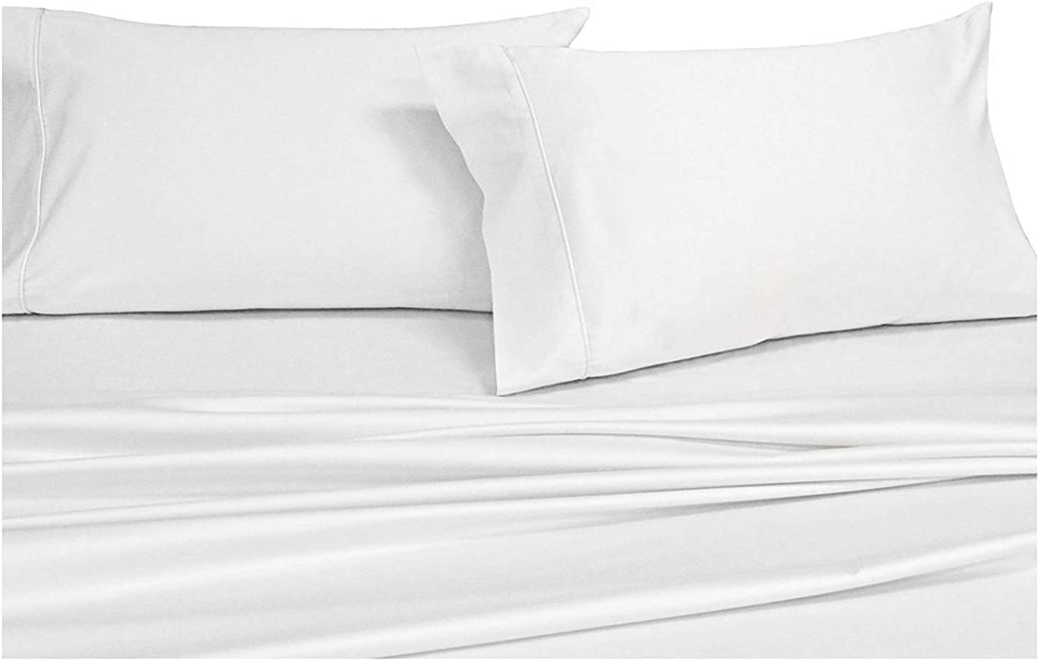 Authentic Heavy Quality 4 Piece Hotel Luxury Soft Egyptian Cotton 1500 Thread Count Series Premium Bed Sheets Set, Fits 14-18  Inch Deep Pockets (King, White)