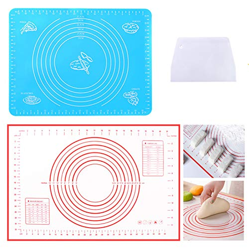 Silicone Pastry Mat Silicone Baking Mats-2 PCS Non Stick Pastry
