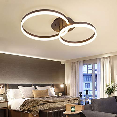 YUNZI LED Anillo Lámpara De Techo, Regulable Techo con Mando A Distancia Elegante Brillante Interior Lámpara De Techo para Comedor Cuarto Sala,62 * 40cm