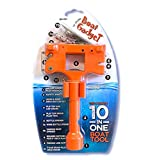 Boat Gadget – This 10-in-1 Boat Tool Includes Beer and Wine Bottle Opener, Safety Whistle, Fishing Line Cutter, Marine Gas Cap Key and Other Essential Tools – Ideal Gifts for Boaters – Orange