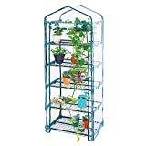 Worth Garden - Mini Greenhouse - 5 Tier 75'' H x 27'' L x 19'' W Outdoor Indoor Greenhouse for Growing Plants in All Seasons - G304A00