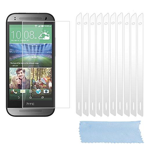 Cadorabo Bildschirmschutzfolien für HTC ONE M8 Mini (2.Gen.) - Schutzfolien in HIGH Clear – 10 Stück hochdurchsichtiger Schutzfolien gegen Staub, Dreck & Kratzer