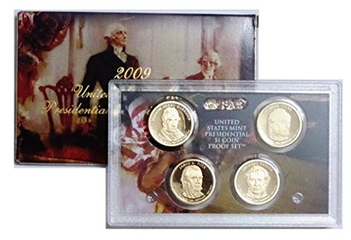 2009 S Presidential 4-coin Proof Set w/Box & COA Proof