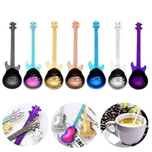 Juego de 7 cucharas de café musicales de acero inoxidable...
