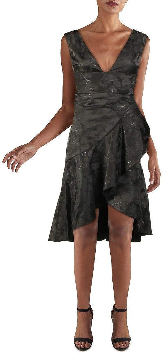 ML Monique Lhuillier Womens Cocktail Special Max 48% OFF Campaign Dress Floral Metallic