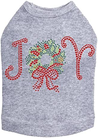Joy Christmas Wreath Sales of SALE items from new works - Bling Max 74% OFF Rhinestone Shirt M Dog H