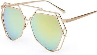ZSDJ Sunglasses Women Polygon Lens Sunglasses Men Sun Glasses Hexagon Frame