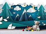 Oedim Fotomural Vinilo para Pared Infantil Montañas | Fotomural para Paredes | Mural | Fotomural Vinilo Decorativo | 200 x 150 cm | Decoración comedores, Salones, Habitaciones