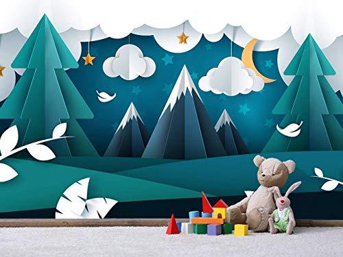 Oedim Fotomural Vinilo para Pared Infantil Montañas | Fotomural para Paredes | Mural | Fotomural Vinilo Decorativo |150 x 100 cm | Decoración comedores, Salones, Habitaciones