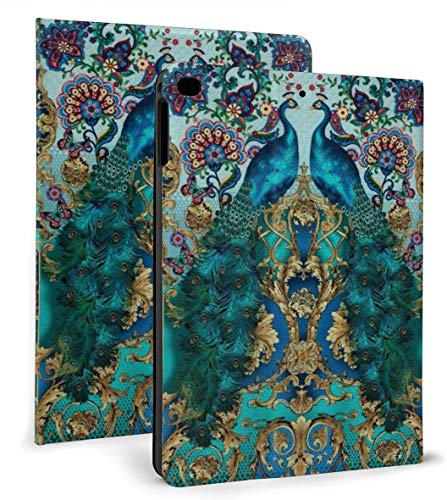 Elegant Peacock PU Leather Smart Case Auto Sleep/Wake Feature for IPad Air 1/2 9.7' Case