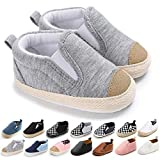 Meckior Save Beautiful Toddler Baby Girls Boys Shoes Infant First Walkers Sneakers (6-12 Months, F-Gray)