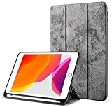 Robustrion Marble Series Trifold Hard Back Flip Case Cover with Pencil Holder