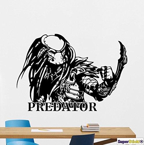 Predator Alien 60x60 Wandtattoo Aufkleber Decal von SUPERSTICKI® aus Hochleistungsfolie für alle glatten Flächen UV und Waschanlagenfest Profi Qualität