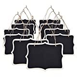 eBoot Mini Rectangle Chalkboard Label for Message Board Signs, Black, Set of 10