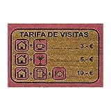 DCASA Felpudo Antideslizante Tarifas Visita Referencia DC Textiles del hogar Unisex Adulto, Multicolor (Multicolor), única