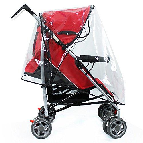 Hysagtek Baby Stroller Raincover Pushchair Transparent Rain Cover Travel Weather Shield, Windproof & Waterproof