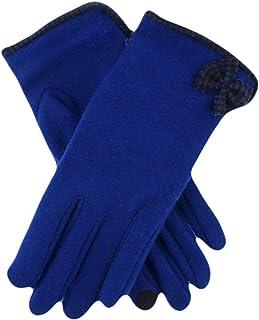 Dents Womens Touchscreen Woollen Gloves - Cobalt Blue