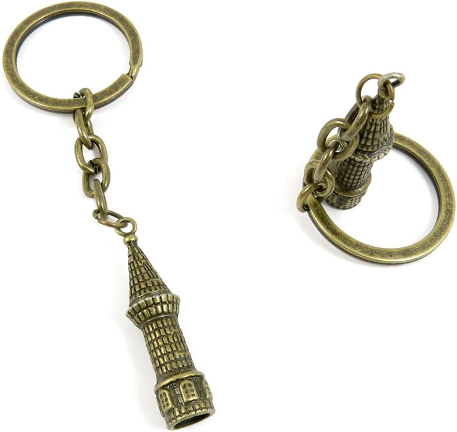 100 Pieces Fashion Jewelry Keyring Keychain Door Car Key Tag Ring Chain Supplier Supply Wholesale Bulk Lots A3OZ2 Castle