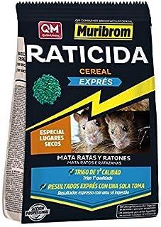 MURIBROM Quimunsa Raticida Cebo en Cereal EXPRÉS 1kg Veneno Ratones, Ratas y roedores.