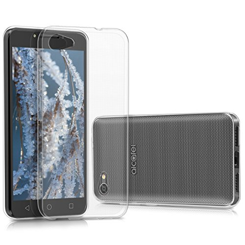 kwmobile Funda Compatible con Alcatel A5 LED - Carcasa de TPU para móvil - Cover Trasero en Transparente