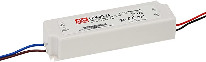 Mean Well, LPV-35-24, LED Driver, Input: 90-264Vac; Single Output 35W 24Vdc